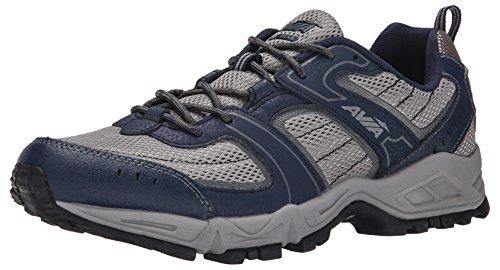 Cheap AVIA Men's Dell Trail Running Shoe, Frost Grey/True Navy/Steel Grey, 8 M US