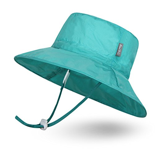 (Ami&Li tots Super Lightweight Child Adjustable Ultrathin Sunhat for Baby Girl Boy Kids Toddler UPF 50 - S: Turquoise)
