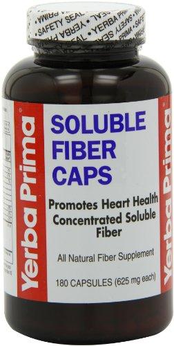 Yerba Prima Soluble Fiber Capsules, 180-Count