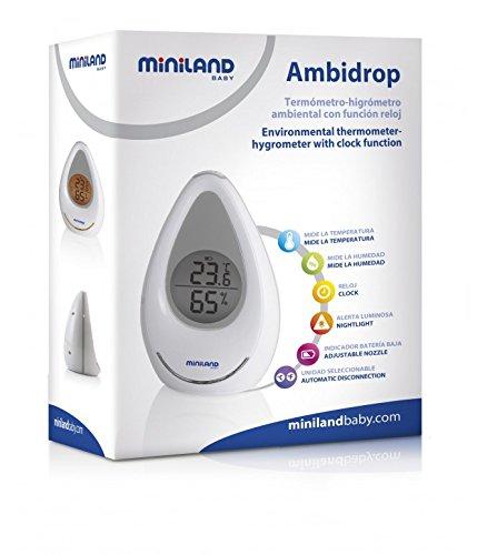 Miniland 89087 - Termohigrómetro ideal para habitación de bebé: Amazon.es: Bebé
