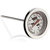 AEK-Tech K129.043 Mekanik Saplamalı Paslanmaz Gıda Termometresi, Siyah