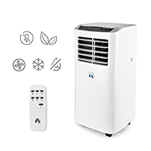 JHS 8,000 BTU Portable Air Conditioner Portable AC Unit, A001-8KR/D Remote Control Small Air Cooler Dehumidifier with Timer, Sleep Mode and 2 Fan Speed