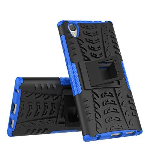 CarcasaSony Xperia L1, LifeePro Funda de la Caja del Teléfono a Prueba de Golpes TPU + PC Armadura Combinada híbrida Caso de Alto Impacto Durable Phone Defender (Púrpura) Azul