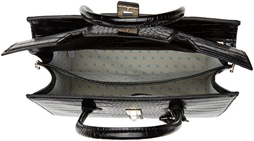 Trussardi Jeans 75b00159-1y000032, Borsa a Mano Donna, 18x43x35 cm (W x H x L) Nero