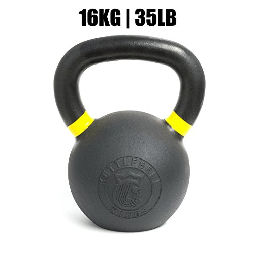 Kettlebell Kings | Powder Coat Kettlebell | Best Kettlebell for Crossfit, Strength Training & Hiit Workouts (16 KG)