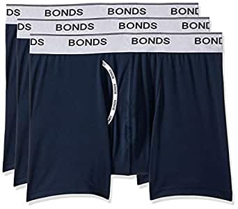 Bonds Men's Microfibre Guyfront Mid Trunk, Captain McCool, Small