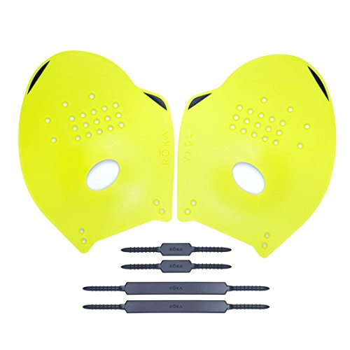 ROKA Pro Swimming Paddles (Acid - Swim Roka