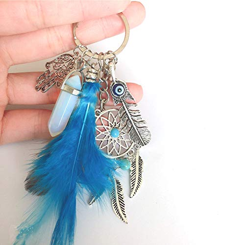 Afco Dream Catcher Pendant Keychain Car Key Ring Bag Hanging Decor Gift Red by Afco (Image #3)