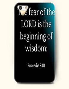iPhone 5 5S Case OOFIT Phone Hard Case ** NEW ** Case with Design The Fear Of The Lord Is The Beginning Of Wisdom Proverbs 9:1- Bible Verses - Case for Apple iPhone 5/5s