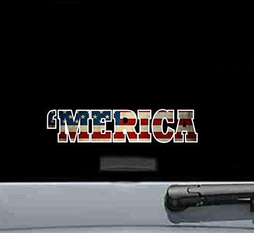 'Merica America United States Usa Vintage Flag Sticker Decal