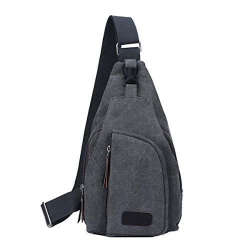 Hombres de la lona triángulo pecho bolsa Cruz cuerpo bolsa bandolera de ocio bag-mini bolsa para man-convenient a llevar gris