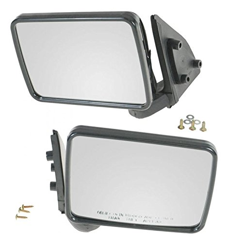 Manual Side View Mirror Left/Right Pair Set for Ram 50 Mighty Max Pickup Truck