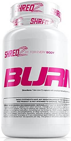 SHREDZ Fat Burner Supplement Pill for Women, Lose Weight, Increase Energy, Best Way to Shed Pounds and Boost Metabolism, 60 Capsules (1 Month Supply)