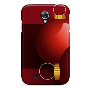 BuWAEZl1646TDVZt DaMMeke Awesome Case Cover Compatible With Galaxy S4 - Christmas Red Globes Holiday