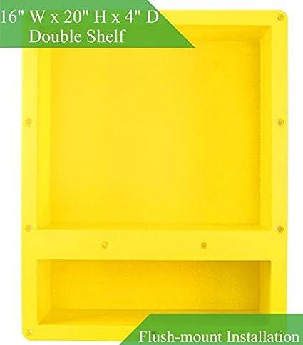 Shower Niche Shelf Organizer Tray   Durable ABS, Waterproof U0026 Leakproof  Craftsmanship, Sleek Design