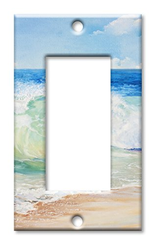 (Art Plates Brand Single Gang Rocker Switch/Wall Plate - Beach Painting)