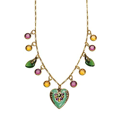 Anne Koplik Designs Women's Hearts & Crystals Necklace - Heart Pendant & Charms