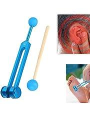 Aluminium stemvork, Sound Healing Therapy Tool Set met hout Hammer Ball + Tuning Fork, Tuning Fork Tool Kit met opbergtas