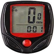 LEAQU Bicycle Speedometer, Mountain Bike Stopwatch Speedometer Wireless Waterproof Digital Bicycle Recorder