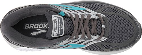 Brooks Women's Addiction 13 Ebony/Silver/Pagoda Blue 8 B US