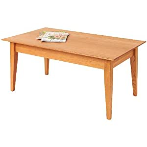 Amazon Com Manchester Wood 42 Quot Cherry Shaker Coffee Table