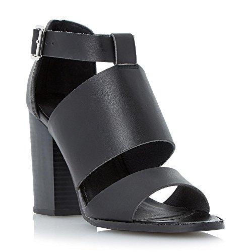 Head Over Heels di Dune ISRA-Cinturino da donna, tacco a blocco, colore: nero