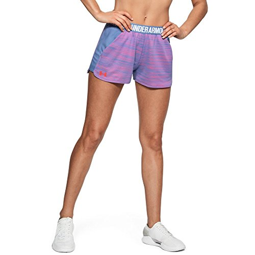 Under Armour Womens Play Up Short 2.0 Novelty, Talc Blue (586)/Neon Coral, X-Large by Under Armour (Image #1)