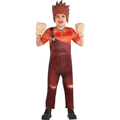 (Costumes USA Wreck-It Ralph 2 Ralph Costume for Boys, Size 3-4T, Includes an Overall Jumpsuit, a Hat, and)