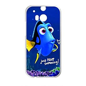 DAZHAHUI Lovely crystal blue fish Cell Phone Case for HTC One M8