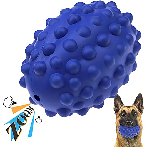 Dog Toys for Aggressive Chewers Large Breed – Ackerman Dog Squeaky Toys Indestructible Dog Toys, Non-Toxic Rubber Made…