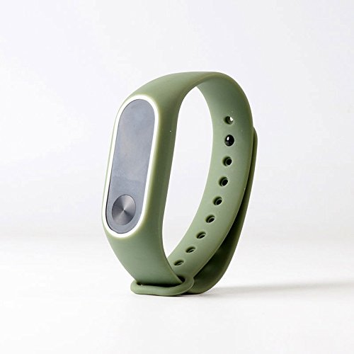 Haihuic Mi Band 2 Bands Silicone Replacement Wrist Strap Bracelet for Xiaomi Mi Band 2]()