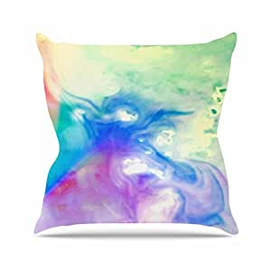 """KESS inhouse ac1068aop0318x 45,7""""Alison Coxon Rainbow Flow multicolourwatercolour"""" Cojín Manta de exterior, multicolor"""