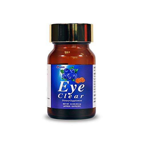 2X UMEKEN Eye Clear Japanese Dietary Supplement Tablets with Blueberry Plus Lutein (Marigold). Vitamin A, C, and E. (120 Tablets X 2 Bottles = 240 Tablets)