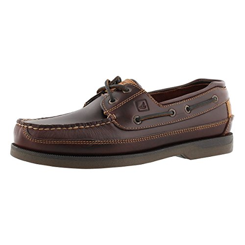 Sperry Top-Sider Men's Mako 2-Eye Canoe Moc Amaretto Size 9.5 (Boat Top Sider Sperry)