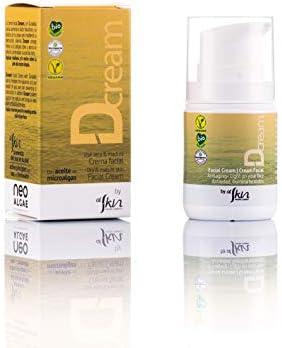 Crema Facial Ecológica   Cosmética Natural Certificada Ecológica   Aumenta el Acido Hialurónico Natural de la Piel   Microalgas de Origen Natural   Envase de 50 ml   Alskin