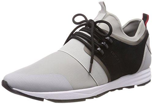 HUGO Herren Hybrid_Runn_mxsc1 Slip on Sneaker Grau (Light/Pastel Grey 050)