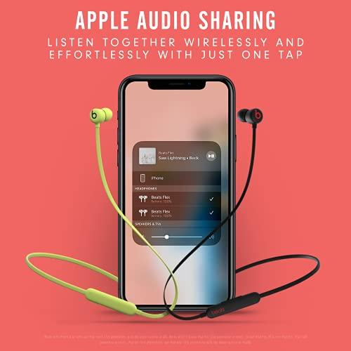 Beats Flex Wireless Earphones – Apple W1 Headphone Chip, Magnetic Earbuds, Class 1 Bluetooth, 12 Hours of Listening Time, Built-in Microphone - Black