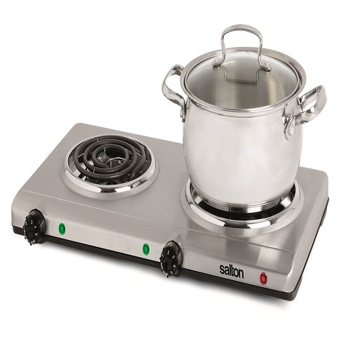 Salton THP-528 Electric Double-Coil Cooking Range, Stainless Steel by Salton (Image #1)