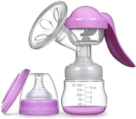 Q-JING Manual Breast Pump & Baby Nipple Baby Bandana Bib Suit Purple