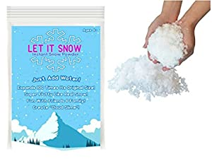 Let it Snow Instant Snow Powder - Makes 1 Gallon of Magical Fluffy White Artificial Snow - Best Instant Snow Powder for Cloud Slime, Frozen Theme Birthday Parties and Snow Decorations!