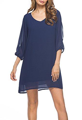 3/4 sleeve club dresses - 1