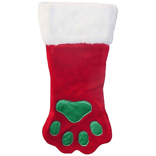 Outward Hound Kyjen  PP01767  Christmas Paw Stocking Dog Stocking Holiday Pet Accessory, Small, (Dog Stockings For Christmas)