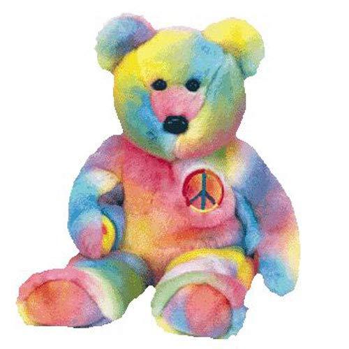 Beanie Buddies 1 X Ty Peace the Ty-Dyed Bear