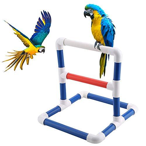 BTLIFE Parrot Perches Bird Stand Pet Bird Table Perch Stands PVC Bird Standing Platform Bird Shower Bath Stand Rack Standing Gym Training Grinding Toy Playstand Holder