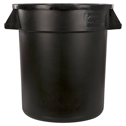 Carlisle 34101003 Bronco Round Waste Container Only, 10 Gallon, Black by Carlisle (Image #1)