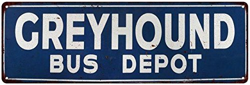Greyhound Bus Depot Vintage Look Reproduction Metal Sign ...