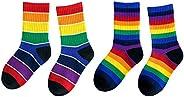 Little Girls' Boys' Toddler Rainbow Cotton Cr