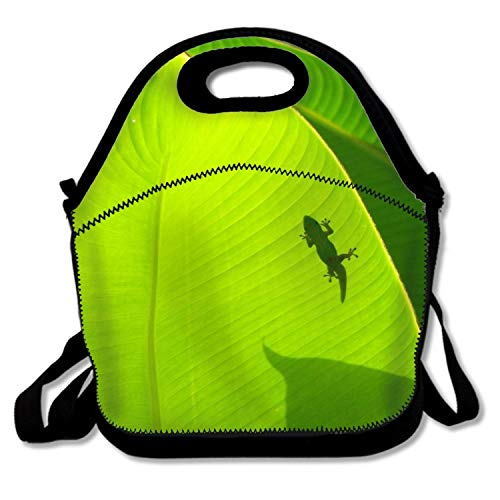 LONSANT Portable Cooler Bag Animal Gecko Lizards Funky Lunch Box Package with Adjustable Strap