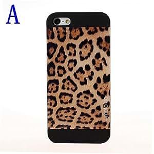 JOE Leopard Pattern Glossy Matte Plastic Hard Case for iPhone 5/5S , B