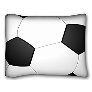 Tarolo Decorative Designer Standard Pillow Case Cushion Cover Football Soccer Pillowcase Gift for Him Gift Size 20x26 inches(51x66cm) One Sided